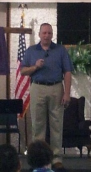 Daryl Densford preaching at Lebanon Church of the Nazarene