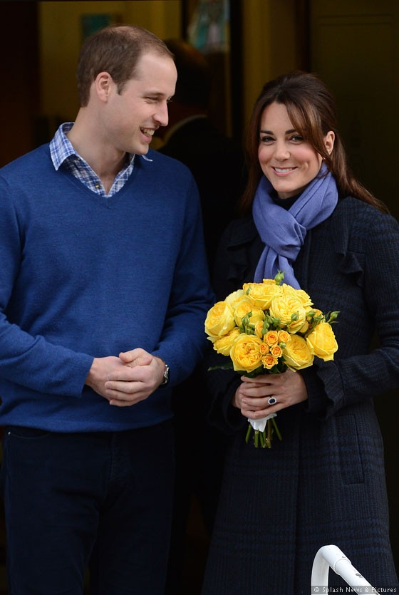 Prince William and Kate Middleton leave hospital in London