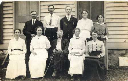 Pic 11: Back row, left-Charles Newkirk? Front row, 3rd from left-Joseph Barker Newkirk?
