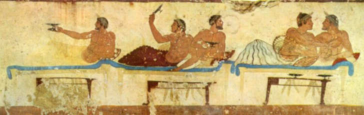 Fresco from the Tomb of the Diver c475 BC Paestum Italy