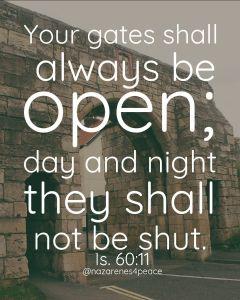 Nazarenes4Peace-gates